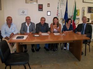 Un momento della conferenza stampa ospitata nella sede provinciale del Coni