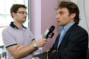 Il patron Mario Rizzo durante una intervista