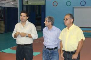 Mister Capillo con De Marco (presidente) e Cottone (vicepres)