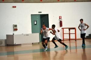 Futsal Peloro Messina riscaldamento
