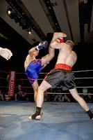 Un fase di un alleamento di Kickboxing