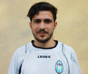 Il centrocampista del Taormina Giuseppe Grasso