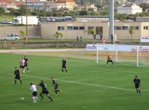 Azione di gioco di Orlandina-Savoia 1-2