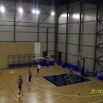 Fase di allenamento dei giocatori dell'Elettrosud al PalaTorre