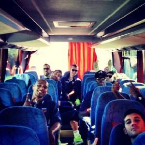 La squadra in partenza per Brescia
