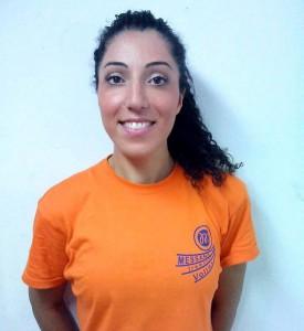 Adriana Giovenco con la maglia del Messana Tremonti
