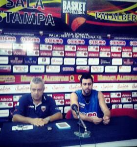 Coach Perdichizzi e il capitano Maresca in conferenza stampa
