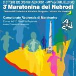 Locandina della Terza edizione della Maratonina dei Nebrodi