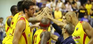 La grinta dei giocatori della Sigma Barcellona