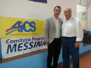 Alessandro Cacciotto con il presidente Lillo Margareci