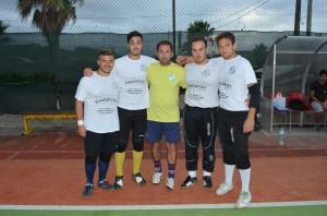 Da sinistra Domenico Porcino, Paolo Lo Buglio, Gianluca Piscardi (all. Under 21), Calogero Avanzato e Leonardo Zema