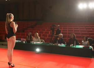 La giuria tecnica di Miss Italia al lavoro
