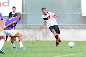 Il centrocampista Alessandro Bonamonte in azione, prelevato in estate dal Catania