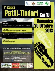 Locandina Prima Scalata Patti-Tindari (20 ottobre 2013)