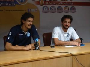 Benevelli e Pozzecco in conferenza stampa alla vigilia