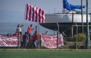 """Gli ultras del Castelbuono 1975 accorsi al """"Garden Sport"""""""