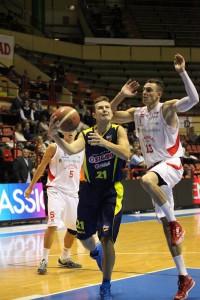 Mauro Pinton, autore di 7 punti