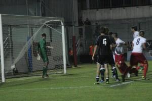 Il gol realizzato da Ignoffo nel confronto di Lamezia in Coppa Italia