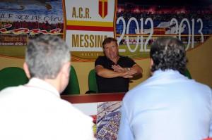 Ancora il patron del Messina nel corso di una conferenza stampa al San Filippo