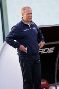 L'allenatore Leonardo Bitetto (foto Luca Maricchiolo)