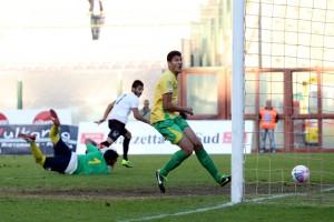 Il gol di Guerriera (foto di Luca Maricchiolo)