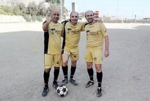 Nelle foto tre giocatori della Stella S.Leone: da sinistra Fabio Mazzù, Gennaro Irrera e Manuel Occhino