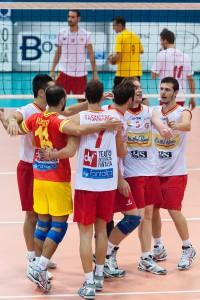 I peloritani celebrano un punto (foto Giovanni Isolino)
