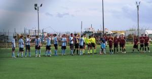 Pistunina e Sporting Taormina salutano il pubblico prima dell'inizio