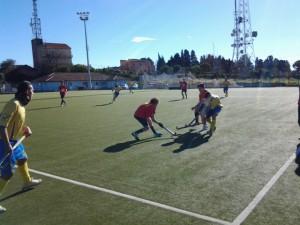 Una fase del match fra Pol. Universitaria Messina e Raccomandata Giardini