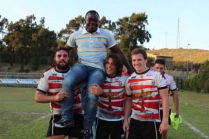 Salyaman con i ragazzi dell'Amatori Rugby
