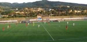 Fase di gioco tra Orlandina e Vibonese