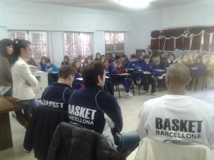 La delegazione della Sigma Barcellona intervenuta all'Istituto