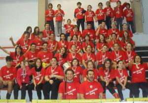 Foto di gruppo per la New Generation Volley