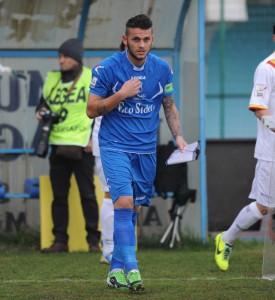 Il centrocampista Domenico Franco con la maglia della Paganese