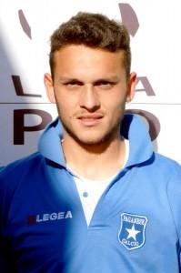 Il centrocampista centrale Domenico Franco sempre con la divisa della formazione di Pagani, che milita in Prima Divisione