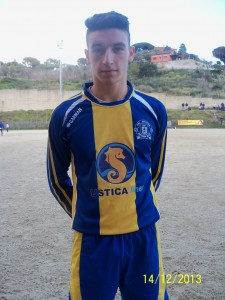 Andrea Arena con la maglia del Riviera (scatto di R.S.)