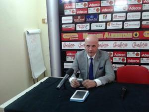 Il presidente Immacolato Bonina in conferenza stampa (foto Carmelo Amato)