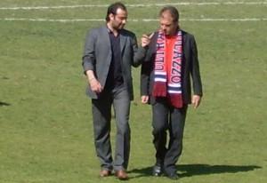 Antonio Venuto con Gaetano Catalano, all'epoca dell'esperienza in rossoblù