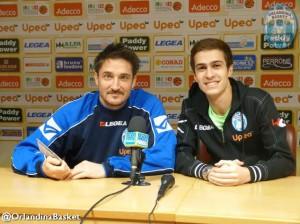 Coach Pozzecco e il d.s. Sindoni