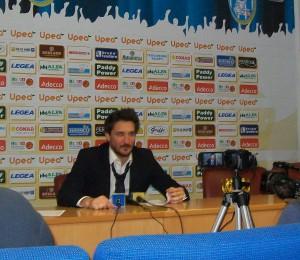 Gianmarco Pozzecco nel dopo gara in sala stampa