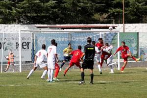 Una fase del match d'andata, vinto per 2-1 dal Città di Messina a Vibo
