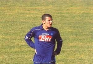 Alessandro De Vena con la maglia del Napoli