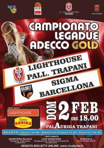 La locandina del derby di domenica contro Trapani