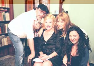 Da sinistra Salvatore Arimatea, Sandra Milo, Marina Suma e Francesca Barbera