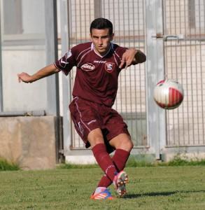 L'esterno della Salernitana Christian Chirieletti, tra i protagonisti del doppio salto dei granata dalla D alla Prima Divisione