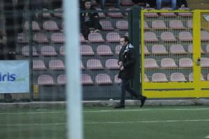 Il massimo dirigente giallorosso allontanato dalla panchina a Frattamaggiore