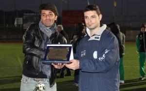 Il tecnico del Messina Gianluca Grassadonia premiato a Taormina