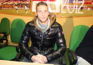 Il neo-attaccante giallorosso Salvatore Caturano (foto Paolo Furrer)