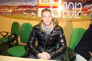L'attaccante del Messina Salvatore Caturano nel giorno della sua presentazione al San Filippo