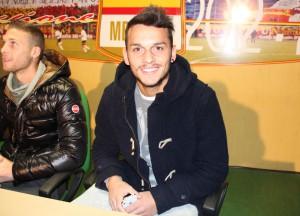 Un primo piano del centrocampista del Messina Domenico Franco (foto Paolo Furrer)